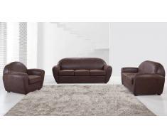 Salon club en microfibre - Jazzy - canapé 3 places + 2 pl + fauteuil