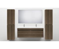Meuble salle de bain design double vasque 144 cm Giovanna