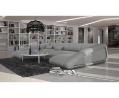 Canapé d'angle panoramique en cuir - Nassau L