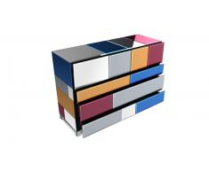 Commode miroirs multicolores - Mona