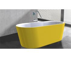 Baignoire îlot jaune design - Elena