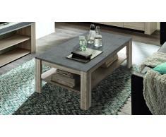 Table basse bois avec plateau imitation ardoise - Eblano