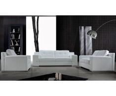 Salon en cuir - Cameron - Canapé 3 places + 2 places + fauteuil
