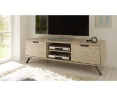 Meuble TV design bois avec pied métal - Nekho