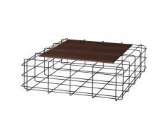 Table basse pied cage métal plateau bois - Leoben