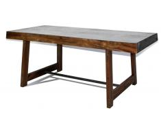 Table salle a manger rectangulaire au style industriel - Manchester