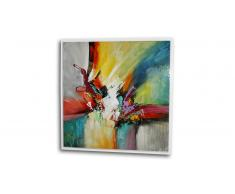 Tableau glossy peinture à l'huile 100x100 cm - Bulgan