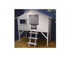 Lit cabane enfant design en bois 90x190 cm - Cabane