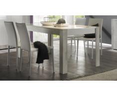 Table à diner rectangulaire 180 cm en bois laqué blanc Mars