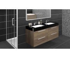 Meuble de salle de bain double vasque 138 cm Azzura