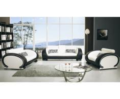 Salon cuir design complet canapé 3+2+1 Okyo