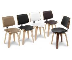 Chaise design pieds bois - Hambourg - chaise bicolore