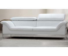 Canapé cuir design 3 places - Shawn