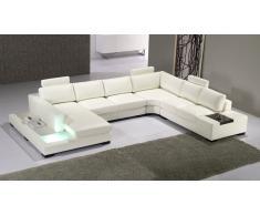 Canapé d'angle cuir design panoramique - Fritsch - avec lumière