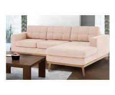 Canapé d'angle capitoné style scandinave en tissu - Tolbon Solde