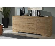 Bahut design en bois 2 portes 3 tiroirs - Emiliano