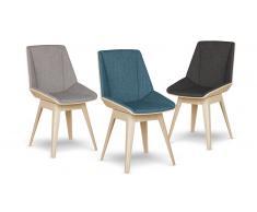 Chaise design pieds bois - Nackka - chaise bicolore