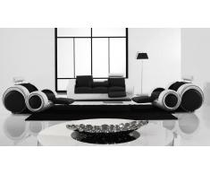 Salon moderne relax en cuir - Pierce - canapé 3 places + 2 fauteuils