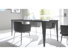 Table de salle à manger laquée gris mat 180cm - Galatik