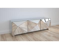 Meuble TV miroir 3 portes design Kirby