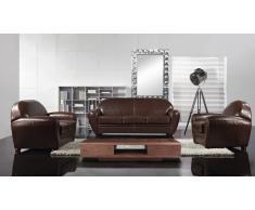 Salon cuir club - Jazzy - canapé 3 places + canapé 2 places + fauteuil