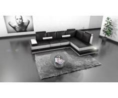 Canapé d'angle en cuir lumineux - Low