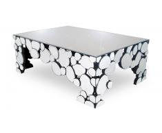 Table basse multifacettes en miroirs Alby