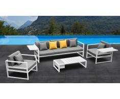 Salon de jardin complet en aluminium - Tamesi