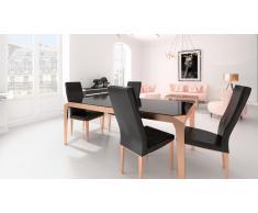 Chaise design croco pieds dorés - Kovel