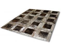 Roca - Tapis retangulaire patchwork peaux de vache