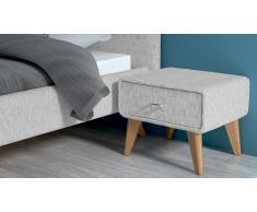 Chevet tissu pieds bois design scandinave - Mariyas