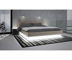 Lit design en similicuir avec éclairage - Rifiano