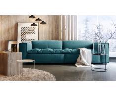 Canapé design 3 places tissu avec assise capitonnée - Storra