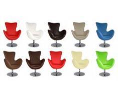 Fauteuil design en simili cuir - Léon
