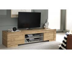 Meuble TV design en bois 2 portes - Emiliano