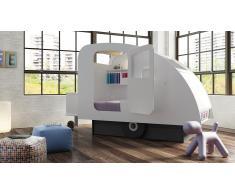 Lit caravane enfant design en bois 90x190 cm - Caravane