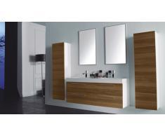 Meuble de salle de bain double vasque 138 cm Ortense