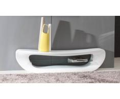 Meuble TV - Curvy - laqué blanc
