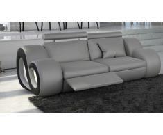Canapé 2 places cuir avec appuie-têtes et éclairage - Nesta