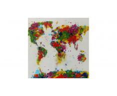 Tableau peinture à l'huile 80x80 cm finition glossy - Saky