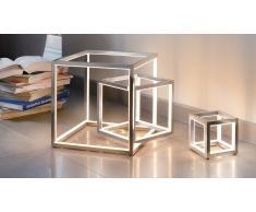 Lampe led cube à poser design de Sompex - Delux