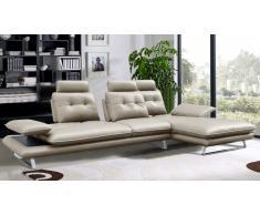 Canape d'angle design avec dossiers réglables imitation cuir - Kosveg