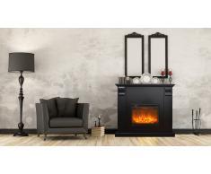 Cheminée éléctrique noire design - Kamin Royal Black