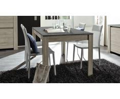 Table à diner rectangulaire avec plateau imitation ardoise - Eblano