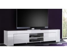 Meuble TV design laqué blanc 190 cm Magao