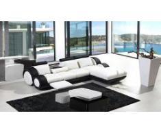 Canapé d'angle de relaxation en cuir - Copenhague