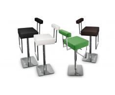 Tabouret de bar design, assise 65/86 cm - Cayman