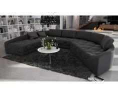 Canapé d'angle panoramique en cuir - Secreto