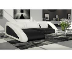 Canapé d'angle design en cuir - Nassau