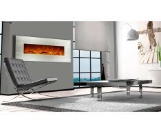 Cheminée électrique décorative inox 128 cm - Kaminox 50